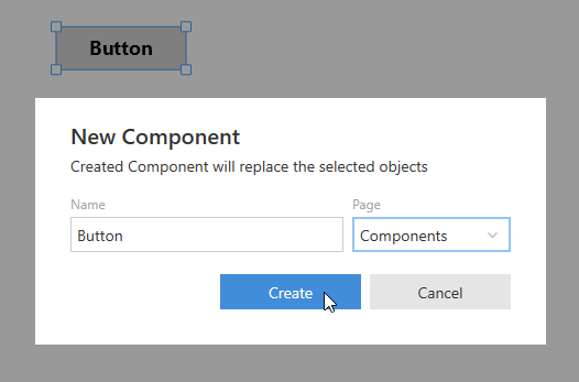 Creating a component. Step 2