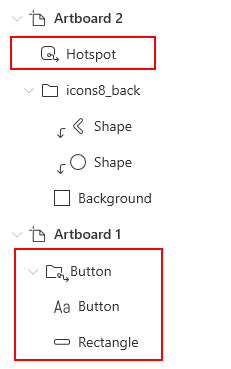 Hide/Show hotspot button