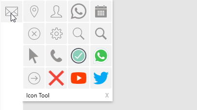 A view of the icon tool