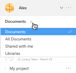 Filtering Cloud documents