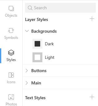 Layer style categories