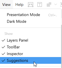 Disabling the suggestions panel